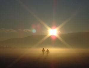 Samen richting het licht