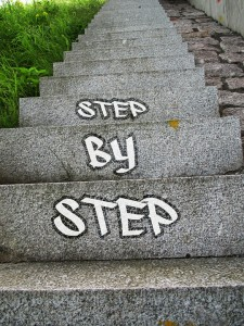 stap voor stap